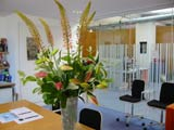 Office flower display for board room